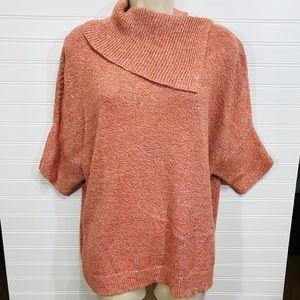 CAbi Split Cowl Neck Oversized Sweater EUC